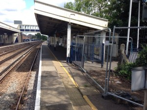 Worcester Park station following footbridge removal